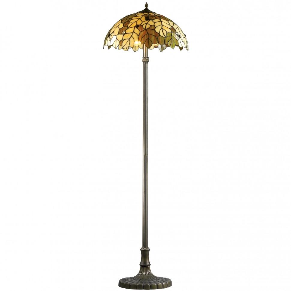 Торшер с витражным куполом в стиле классика
