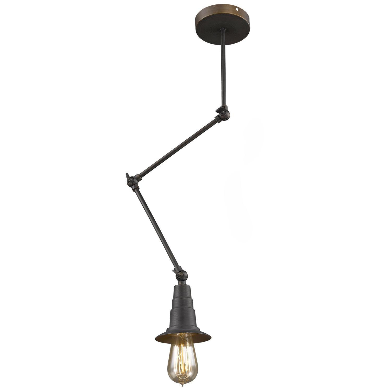 Подвижный металлический светильник в стиле лофт
