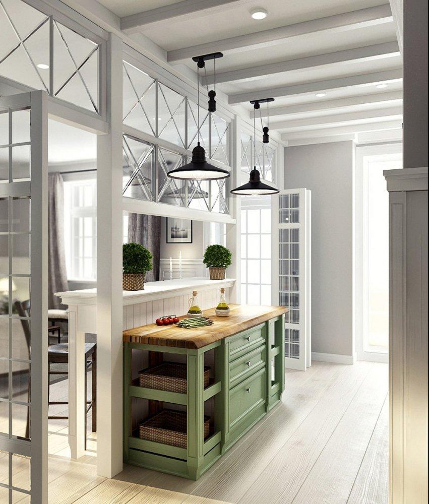 Люстры на кухне в стиле лофт