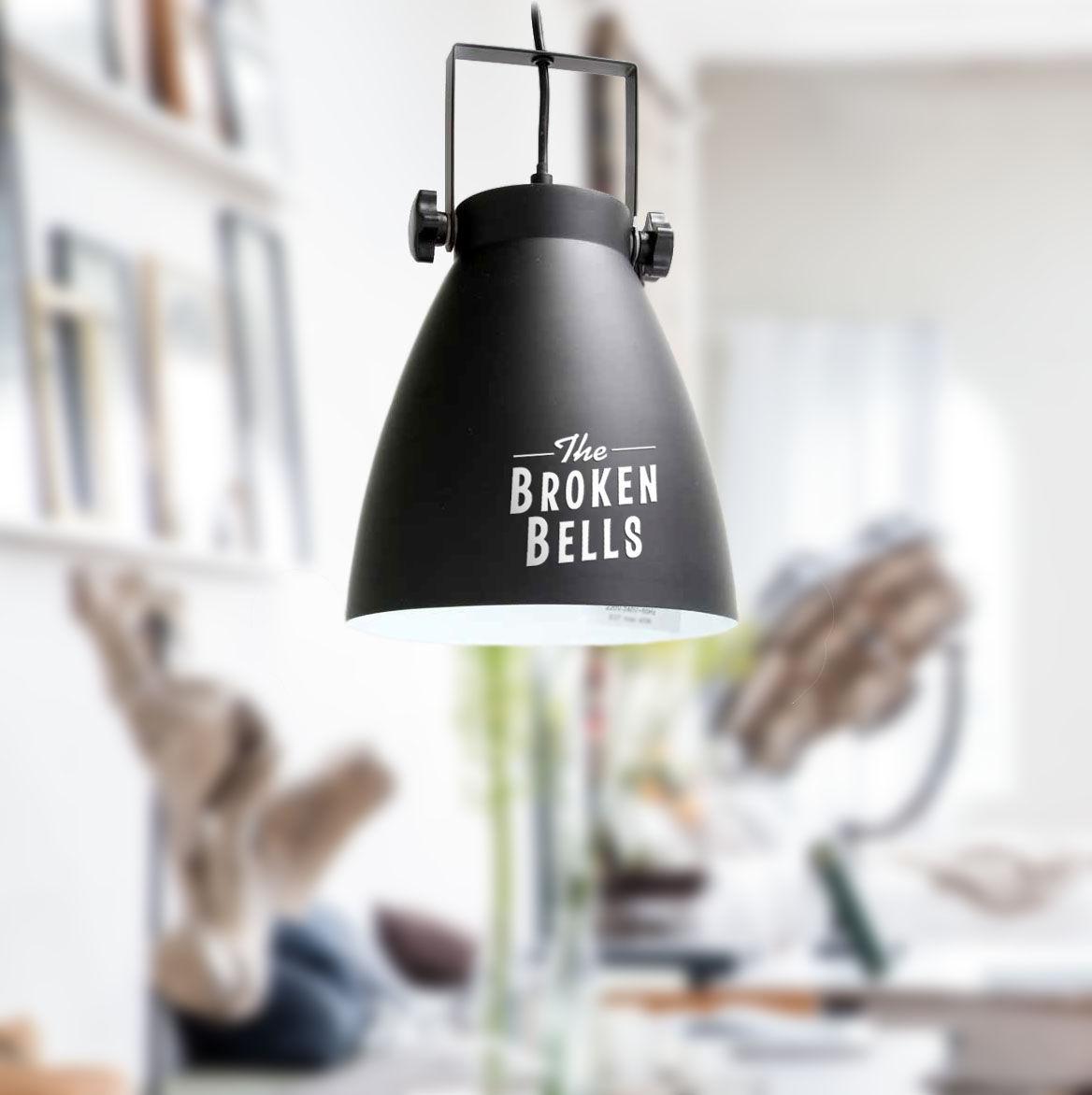 Черно-белый светильник в стиле лофт