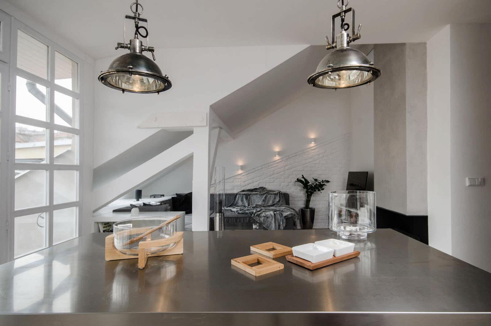 Светильники в стиле лофт в гостиной