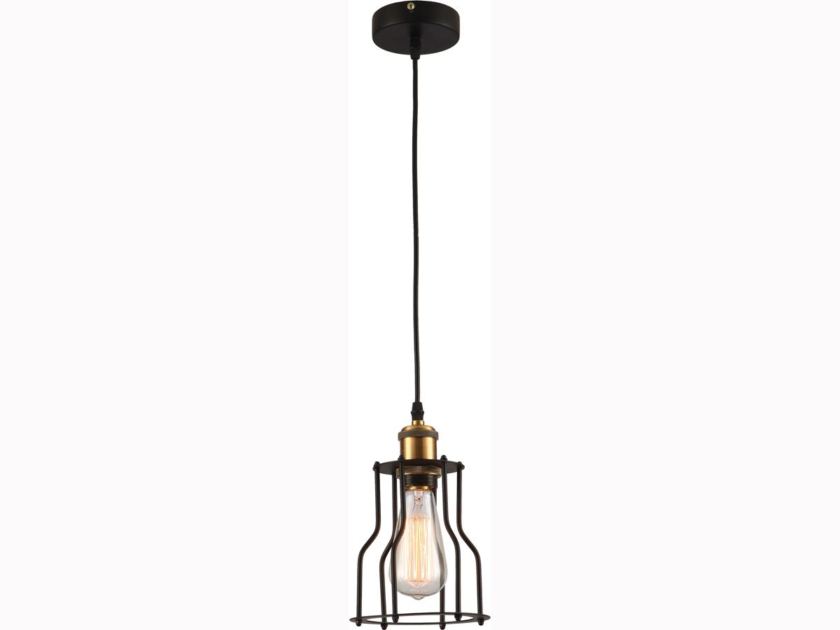 Подвесная лампа с металлическим декором в стиле лофт