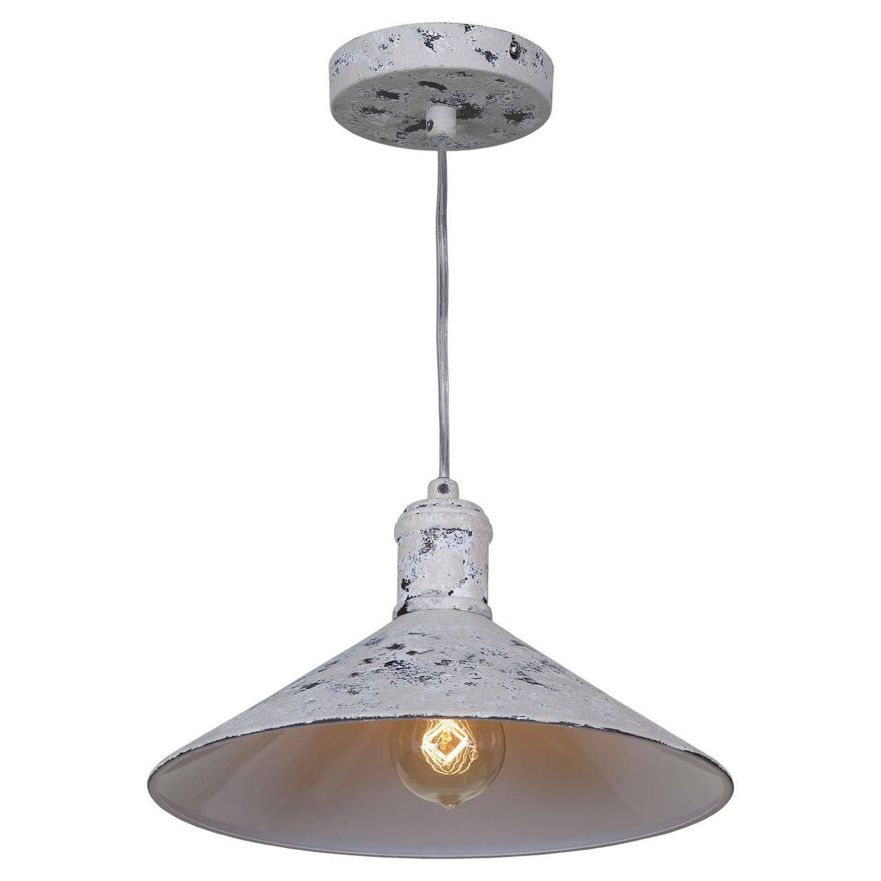 Светлая лампа в стиле лофт