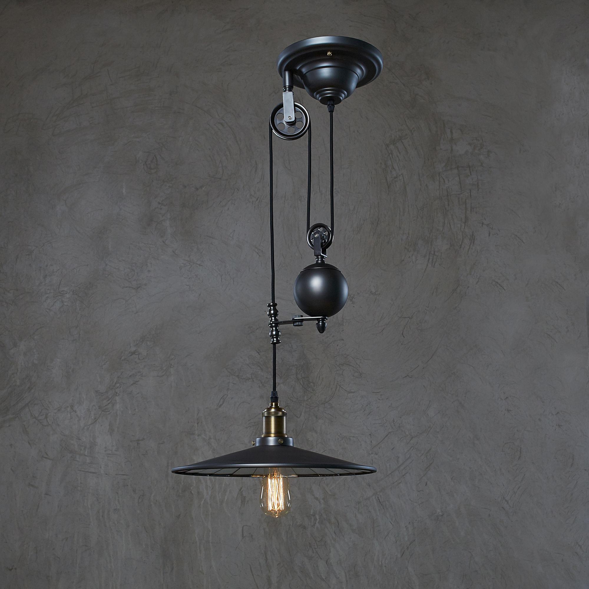Оригинальный дизайн черной люстры в стиле лофт