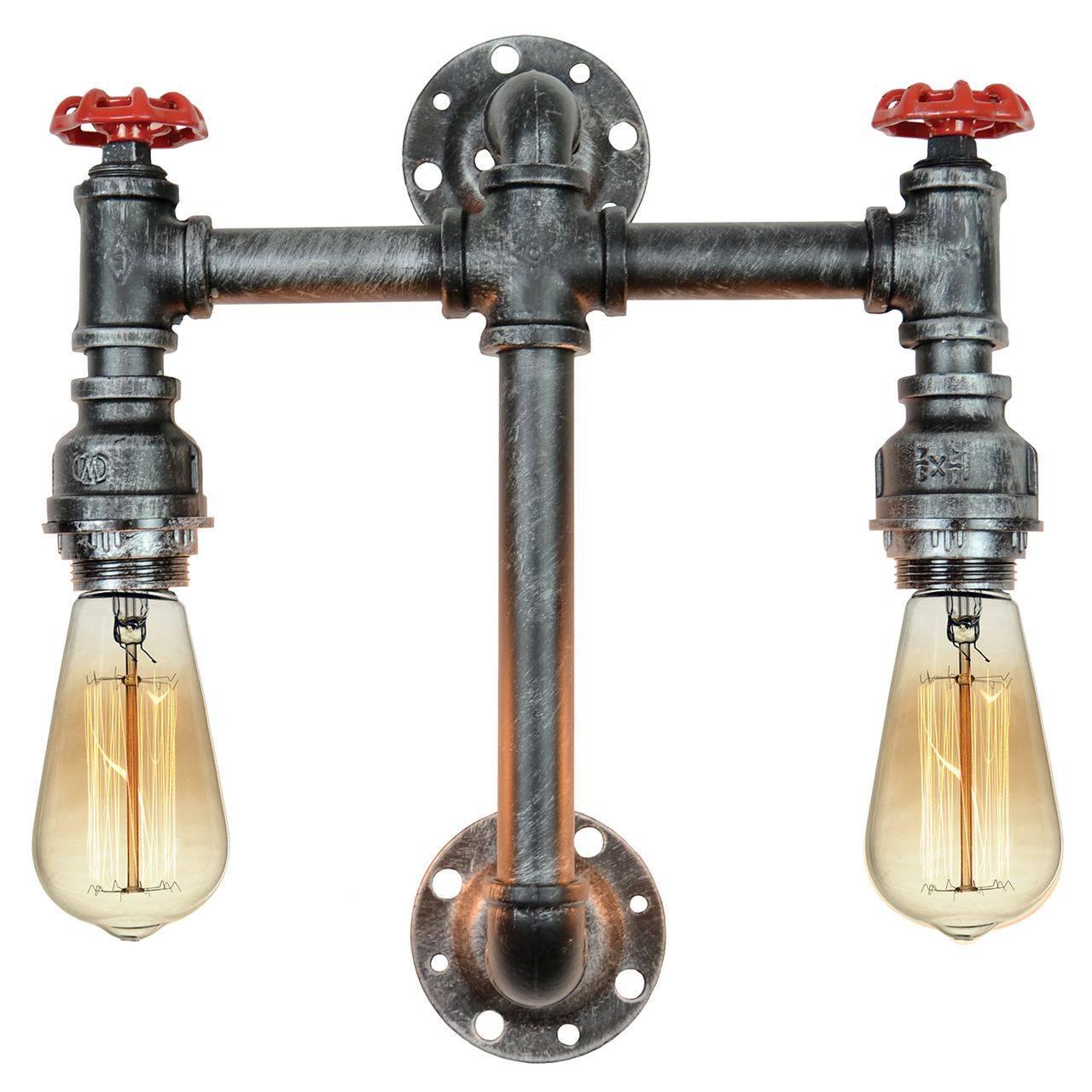 Настенное бра в стиле лофт с двумя лампами