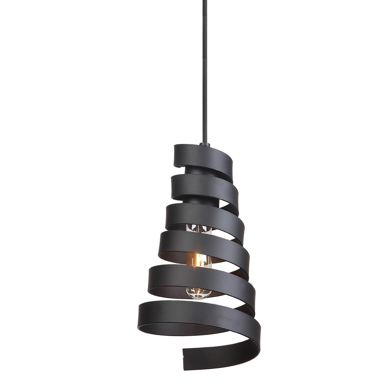 Подвесная лампа с черным абажуром