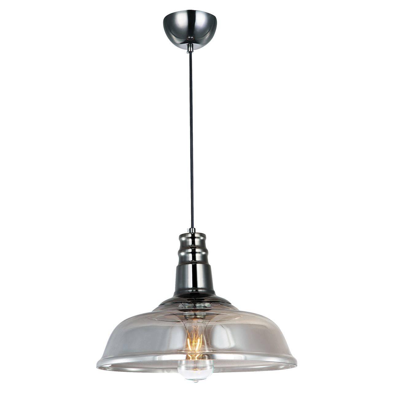 Подвесная лампа со стеклянным абажуром