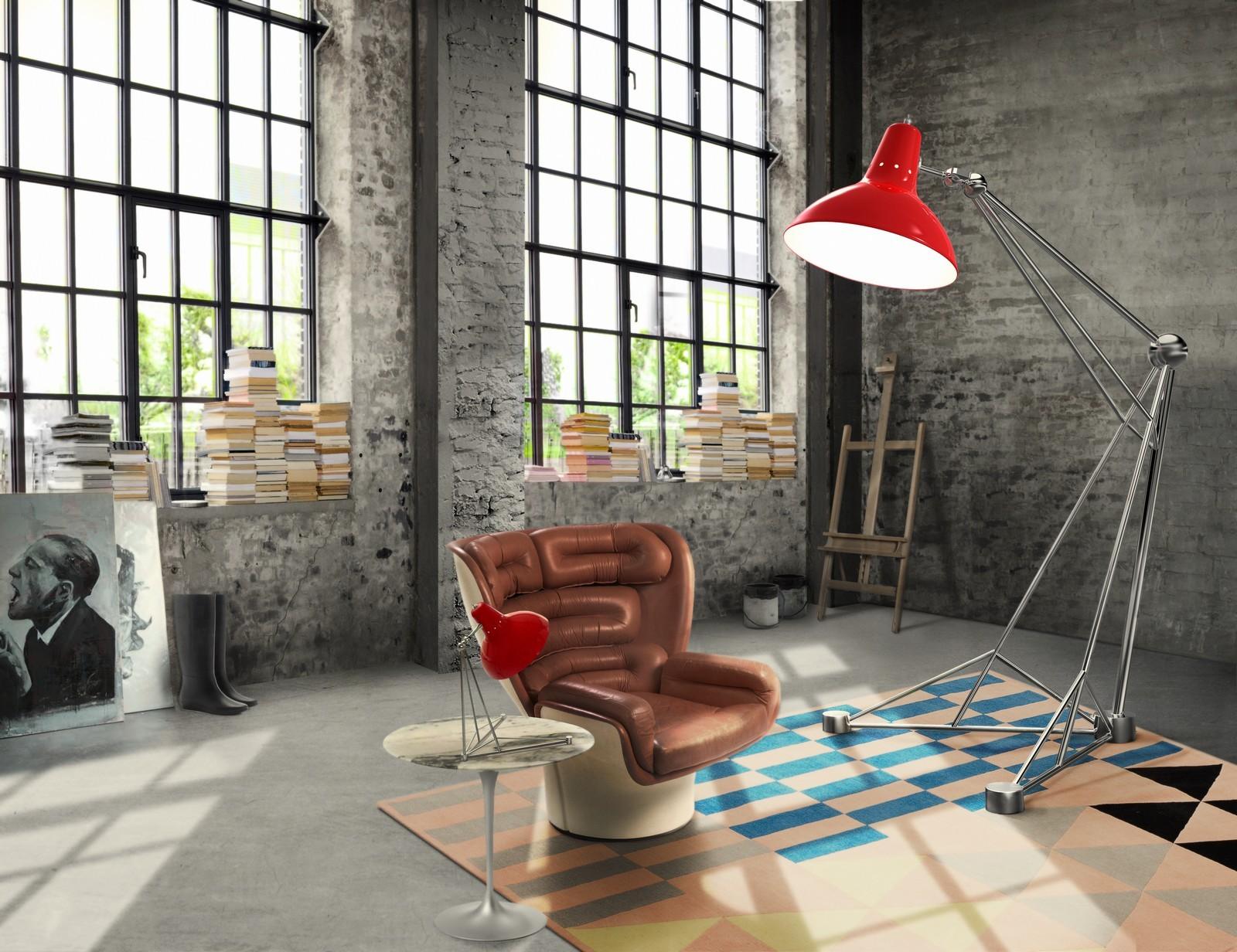 Торшер и настольная лампа в стиле лофт