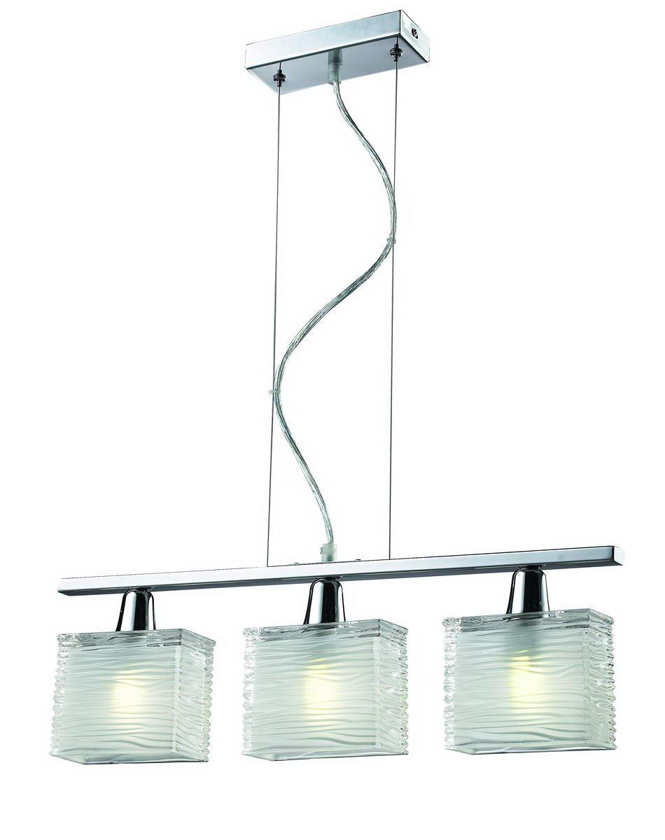 Подвесная люстра в стиле модерн на три лампы