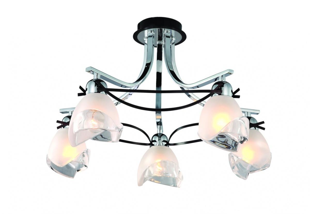 Люстра в стиле модерн на пять ламп