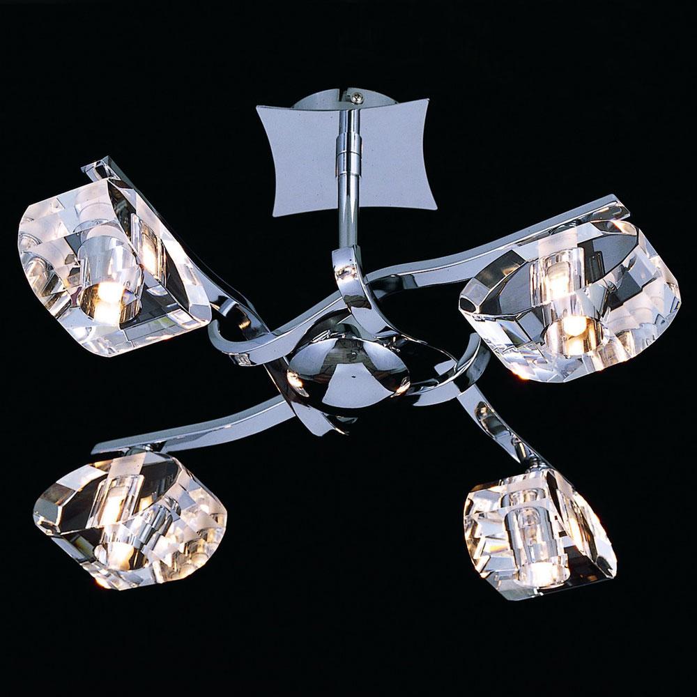 Необычная люстра в стиле модерн на четыре лампы