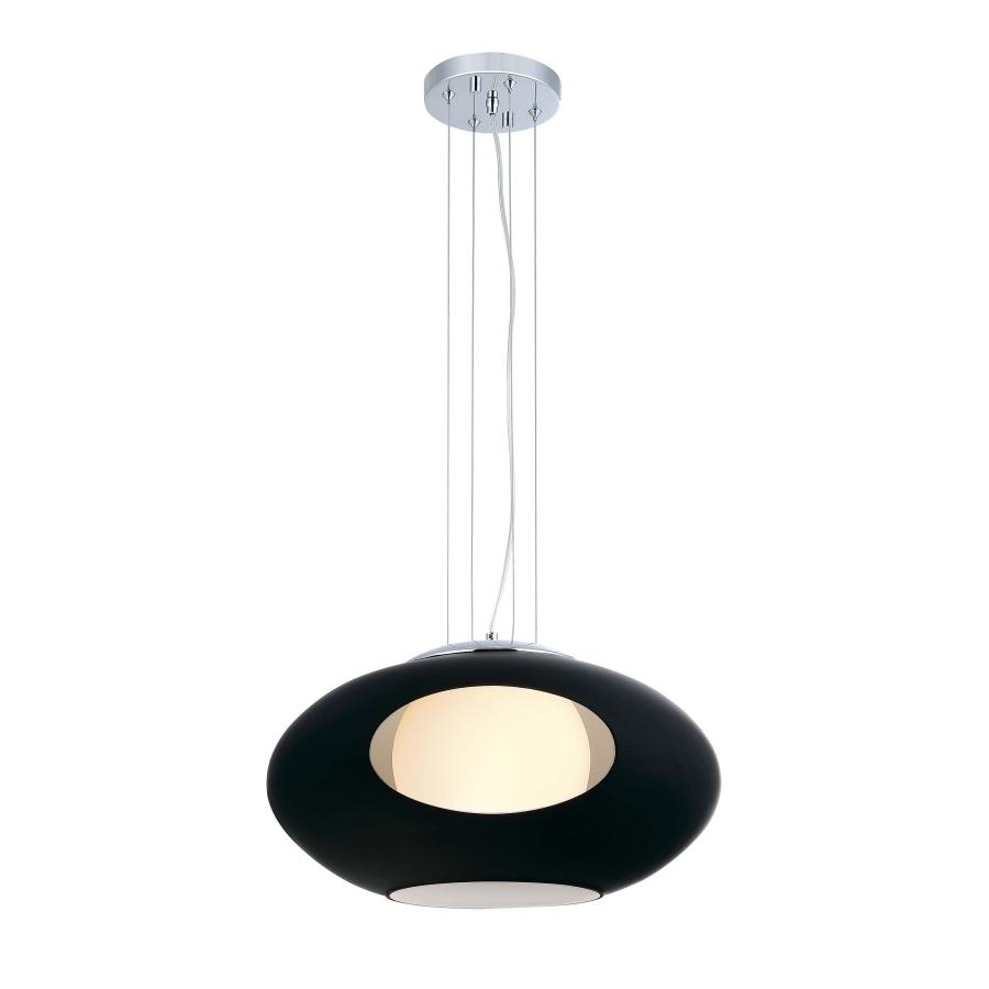 Черная люстра в стиле модерн с отверстием
