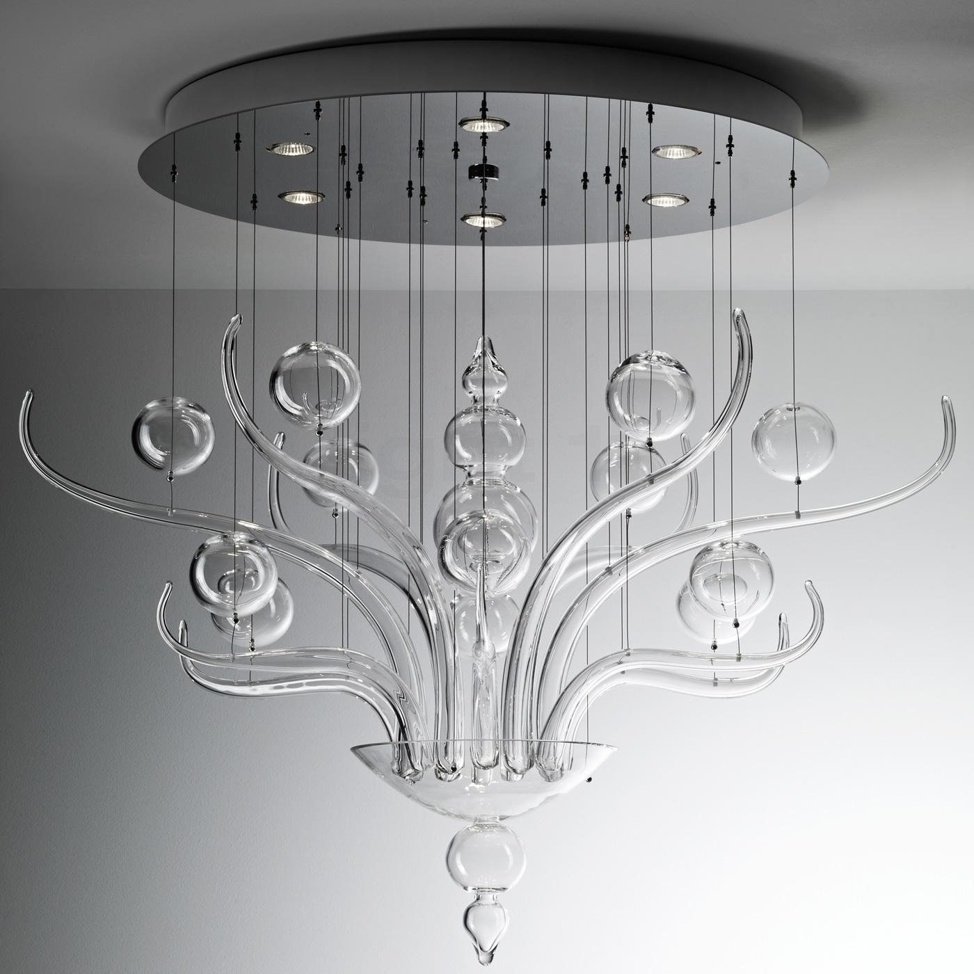 Оригинальный дизайн стеклянной люстры в стиле модерн