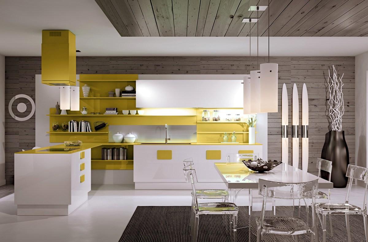 Светильники на кухне в стиле хай-тек