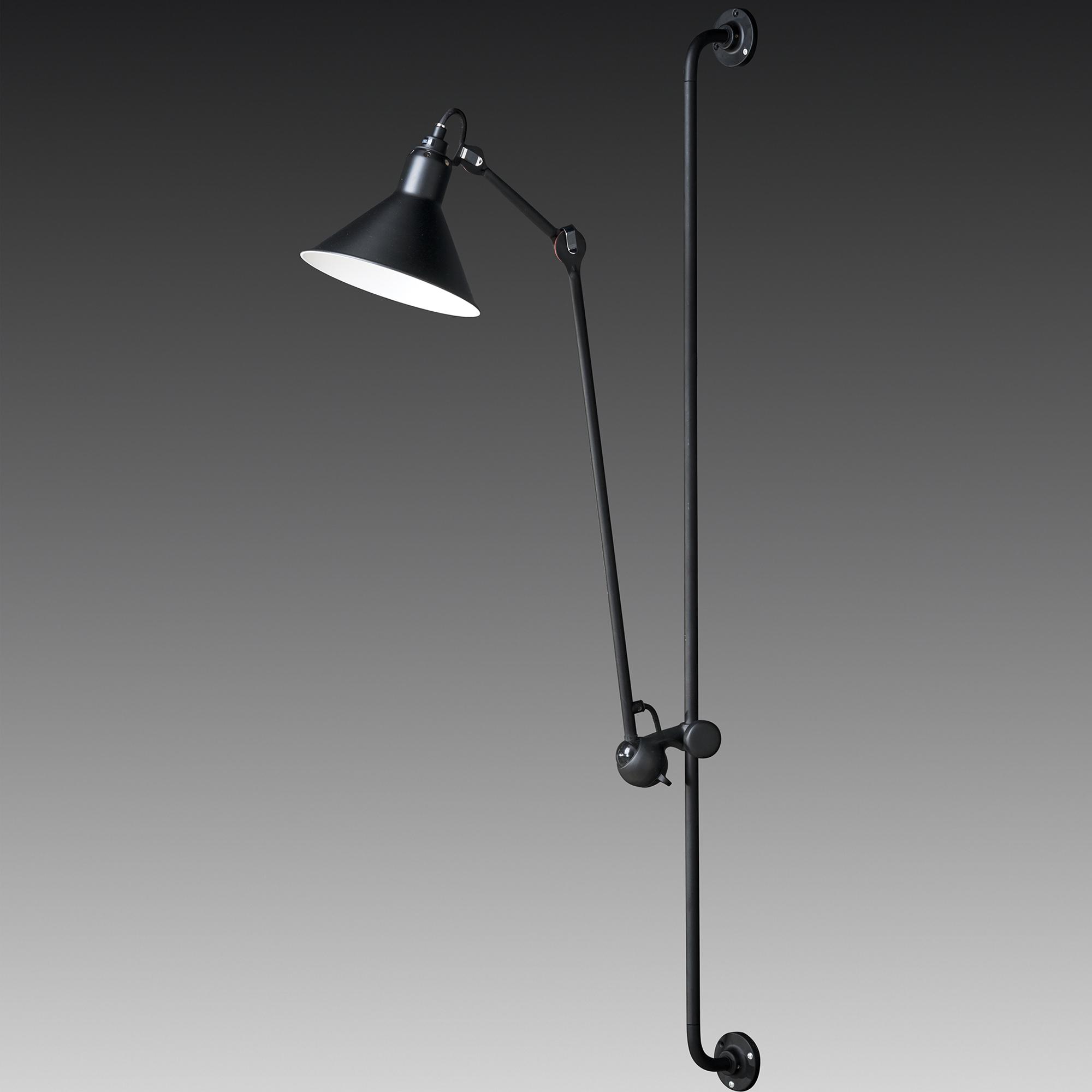 Настенная черная лампа