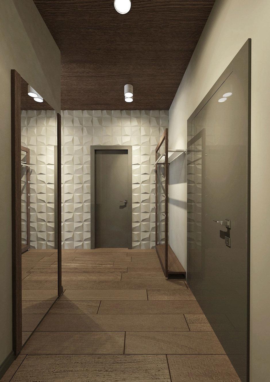 Освещение коридора в стиле хай-тек