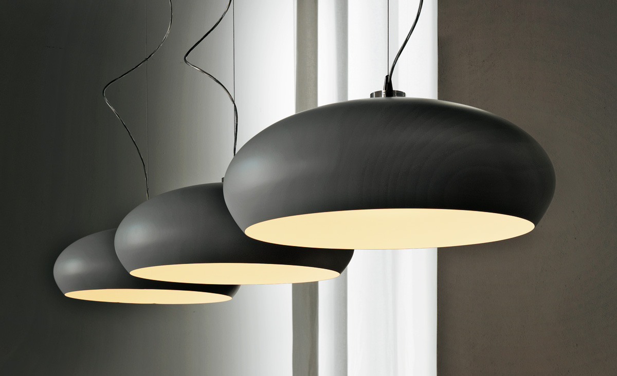 Черные подвесные лампы