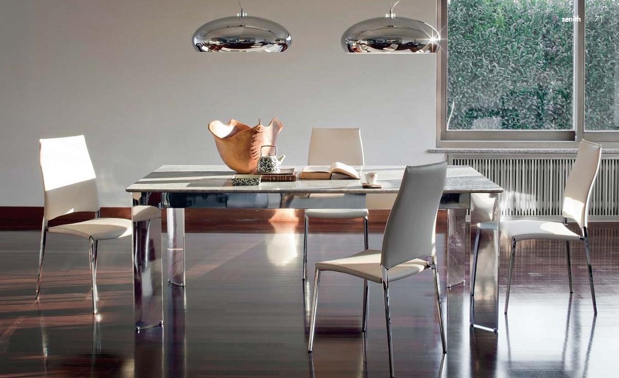 Металлические люстры в столовой
