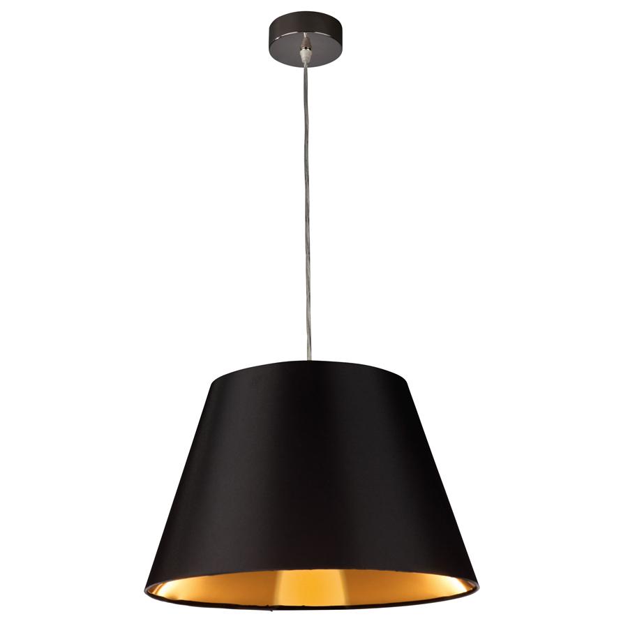Черно-золотистая люстра в стиле хай-тек