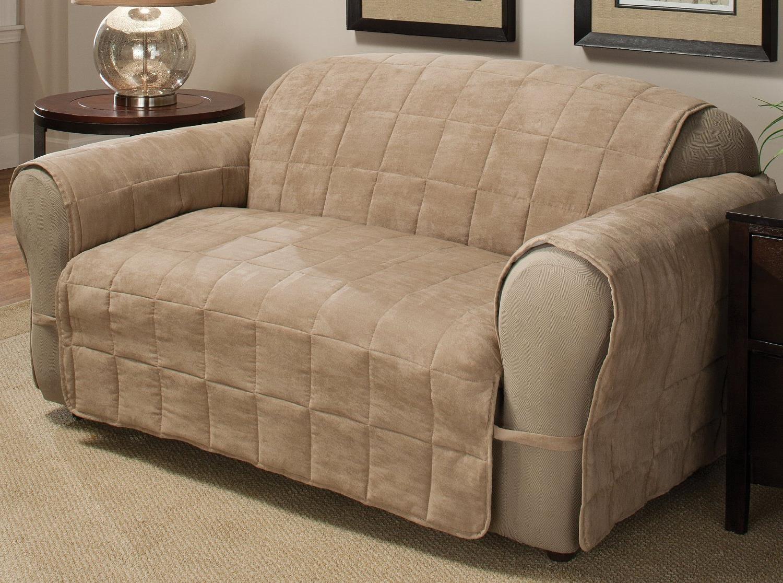 Чехол из замши на диван