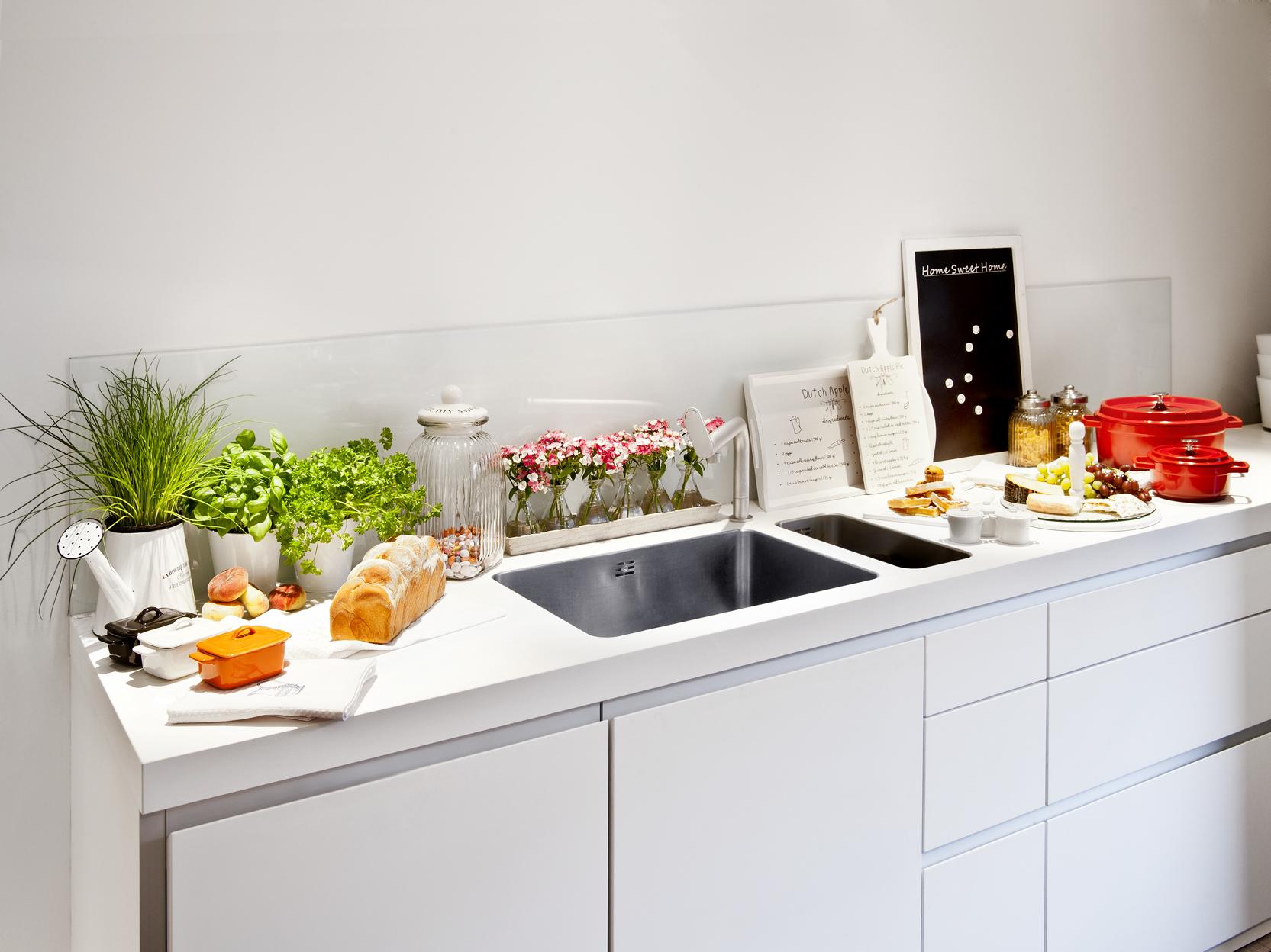 Красивое оформление рабочей зоны кухни