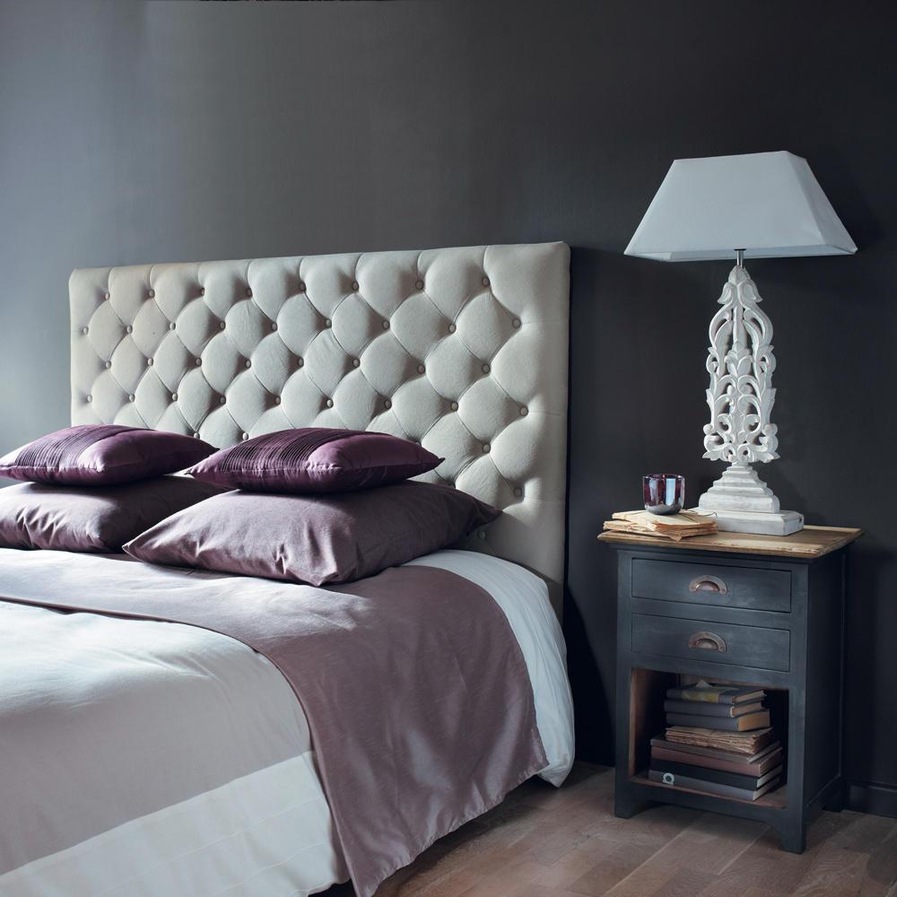 Кровать с мягким изголовьем белым