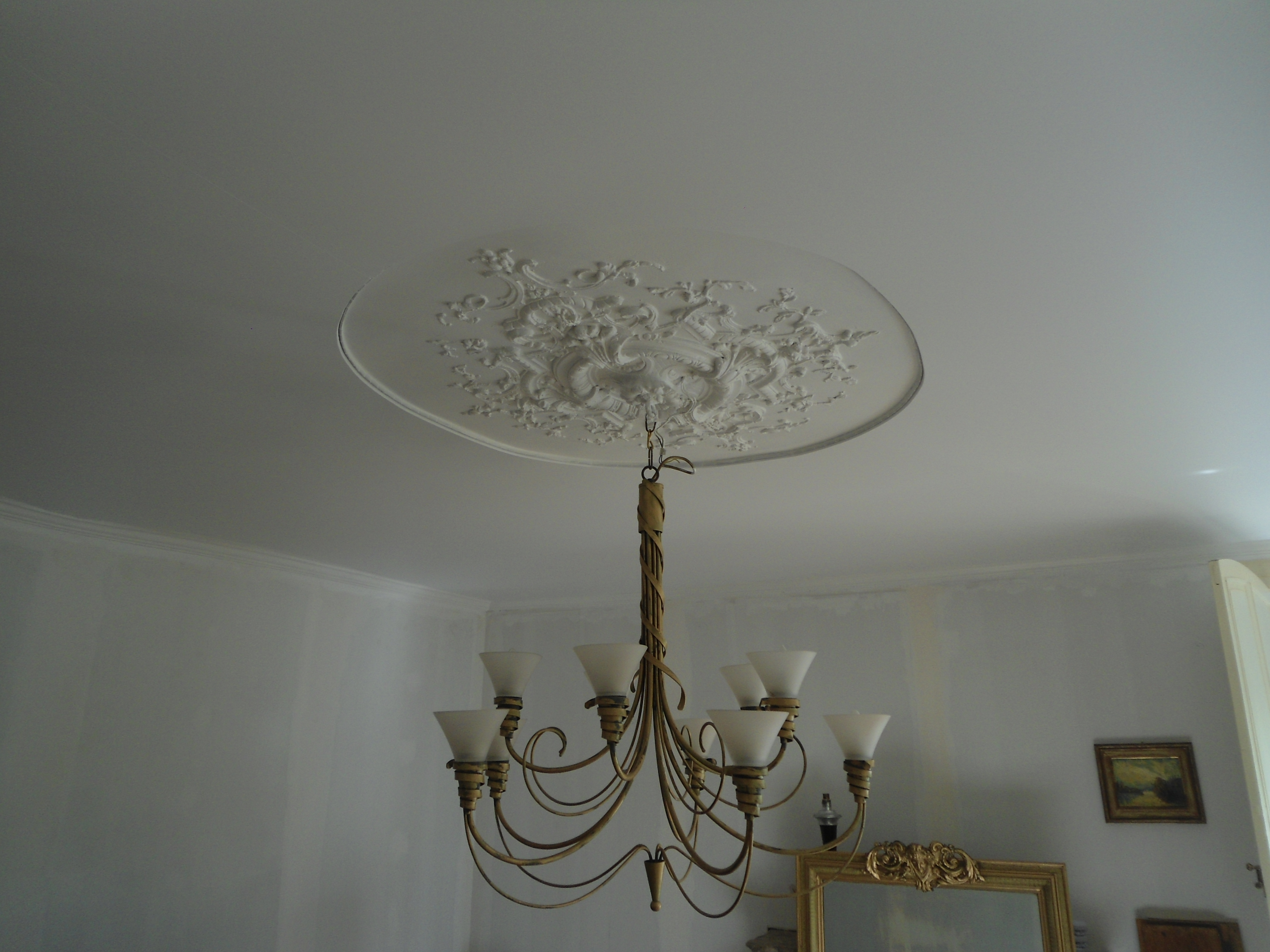 Люстра для натяжного потолка из бронзы