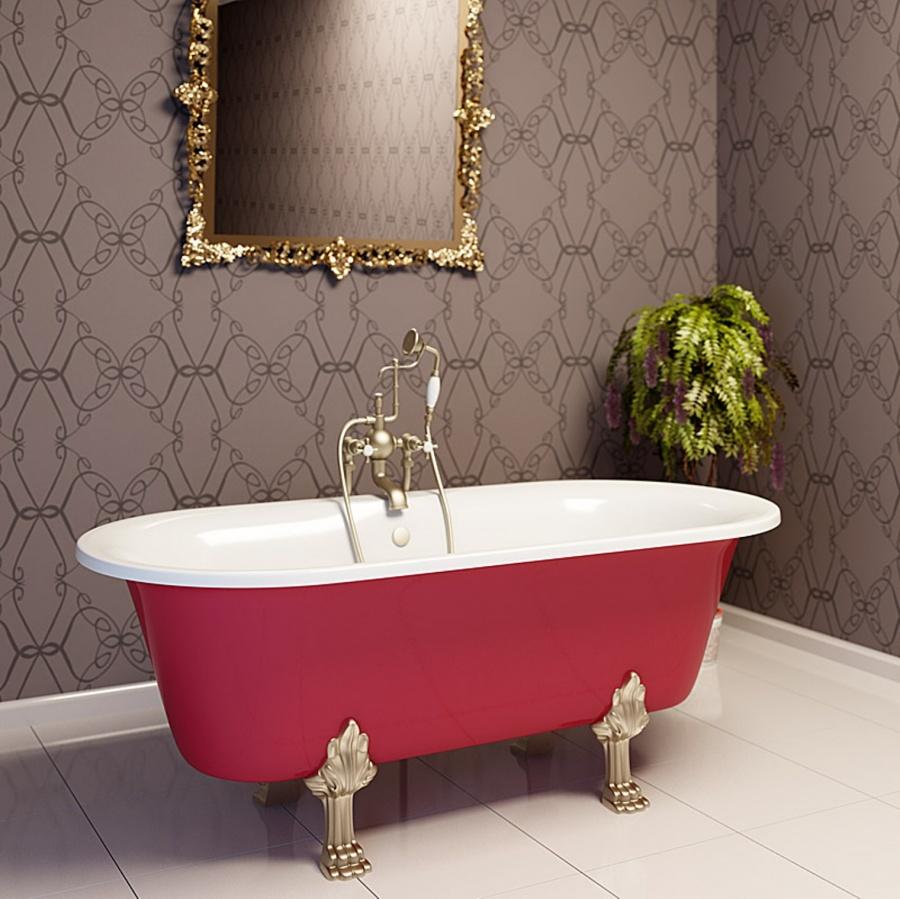 Стильная красная ванна