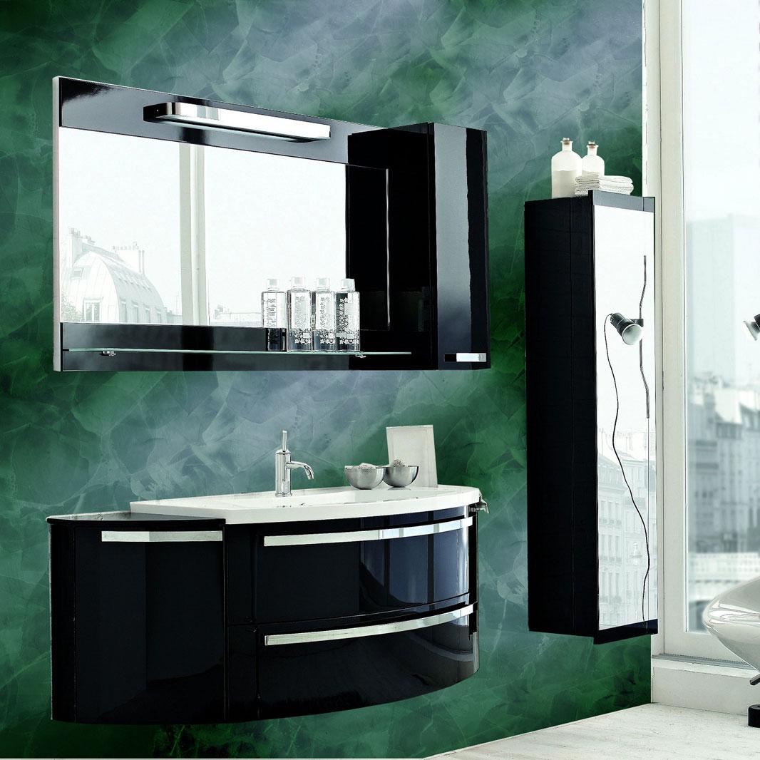Изумрудная декоративная штукатурка в интерьере ванной