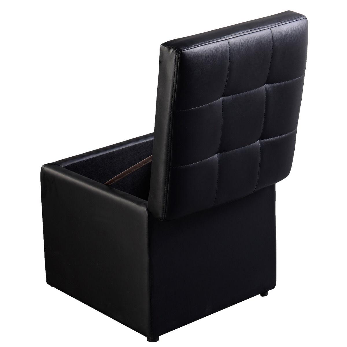 Черный пуф с местом для хранения