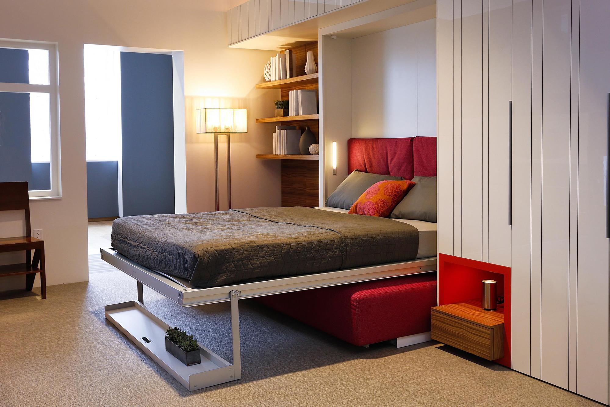 Спальня 13 кв м с откидной кроватью