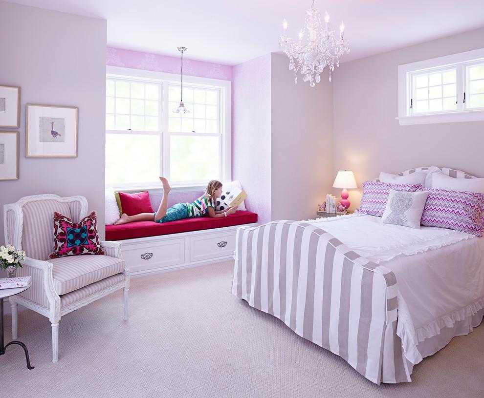 Розовая спальня девочки подростка