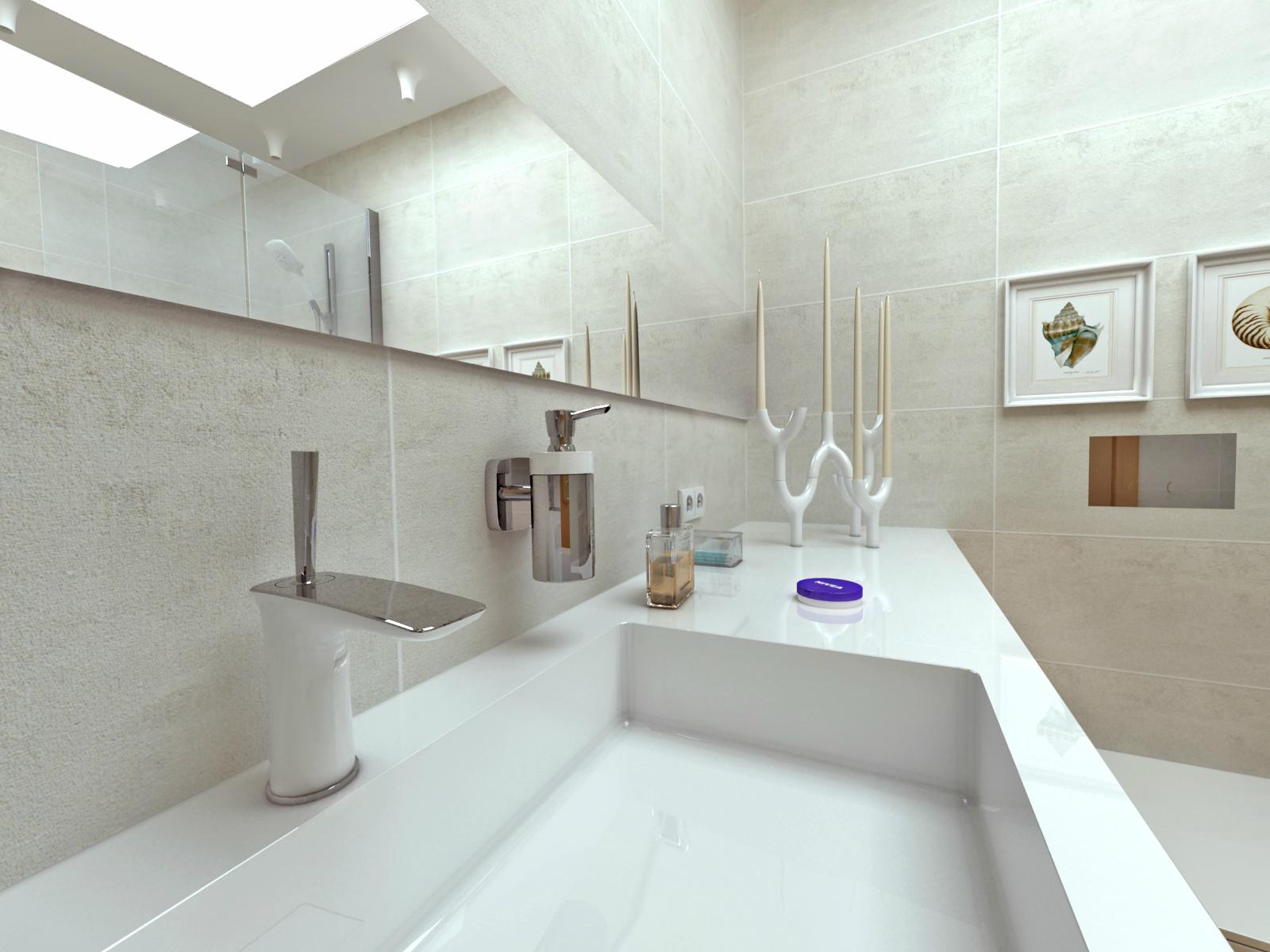 Современная просторная ванная комната