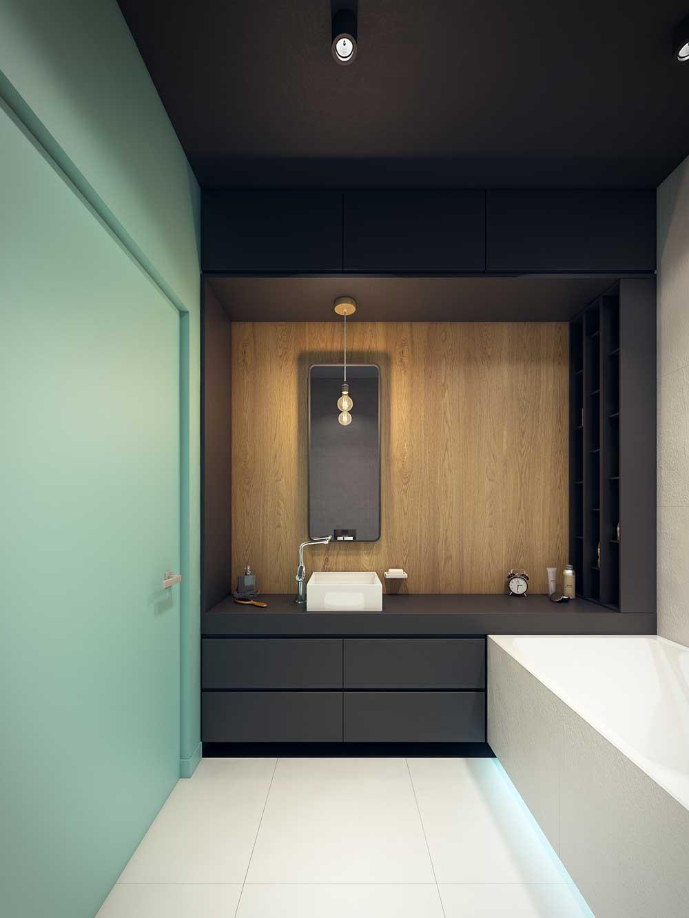 Минималистичная ванная 7 кв. м