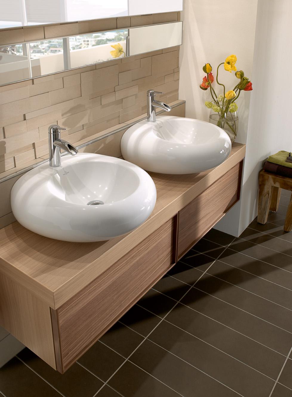 Ванная комната 7 кв. м с двумя умывальниками
