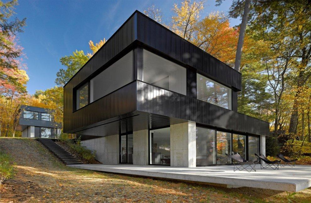 Каркасный дом в стиле хай-тек