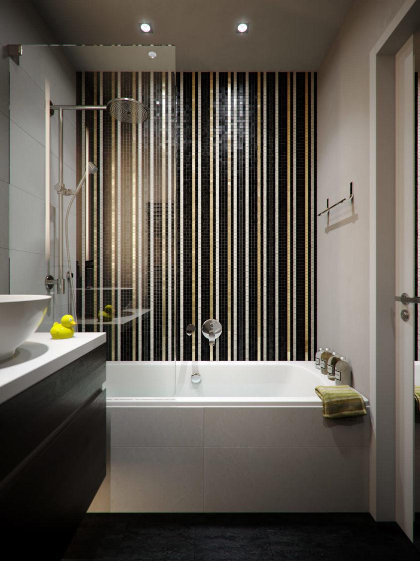 Ванная без унитаза с тропическим душем