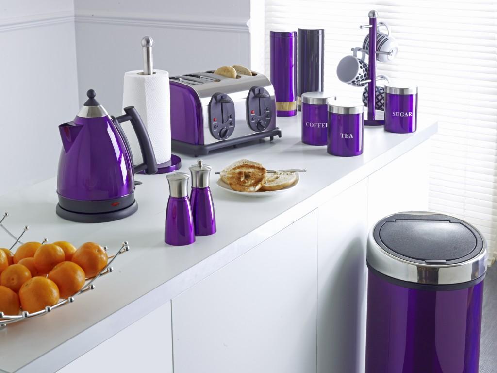 Фиолетовые аксессуары для кухни