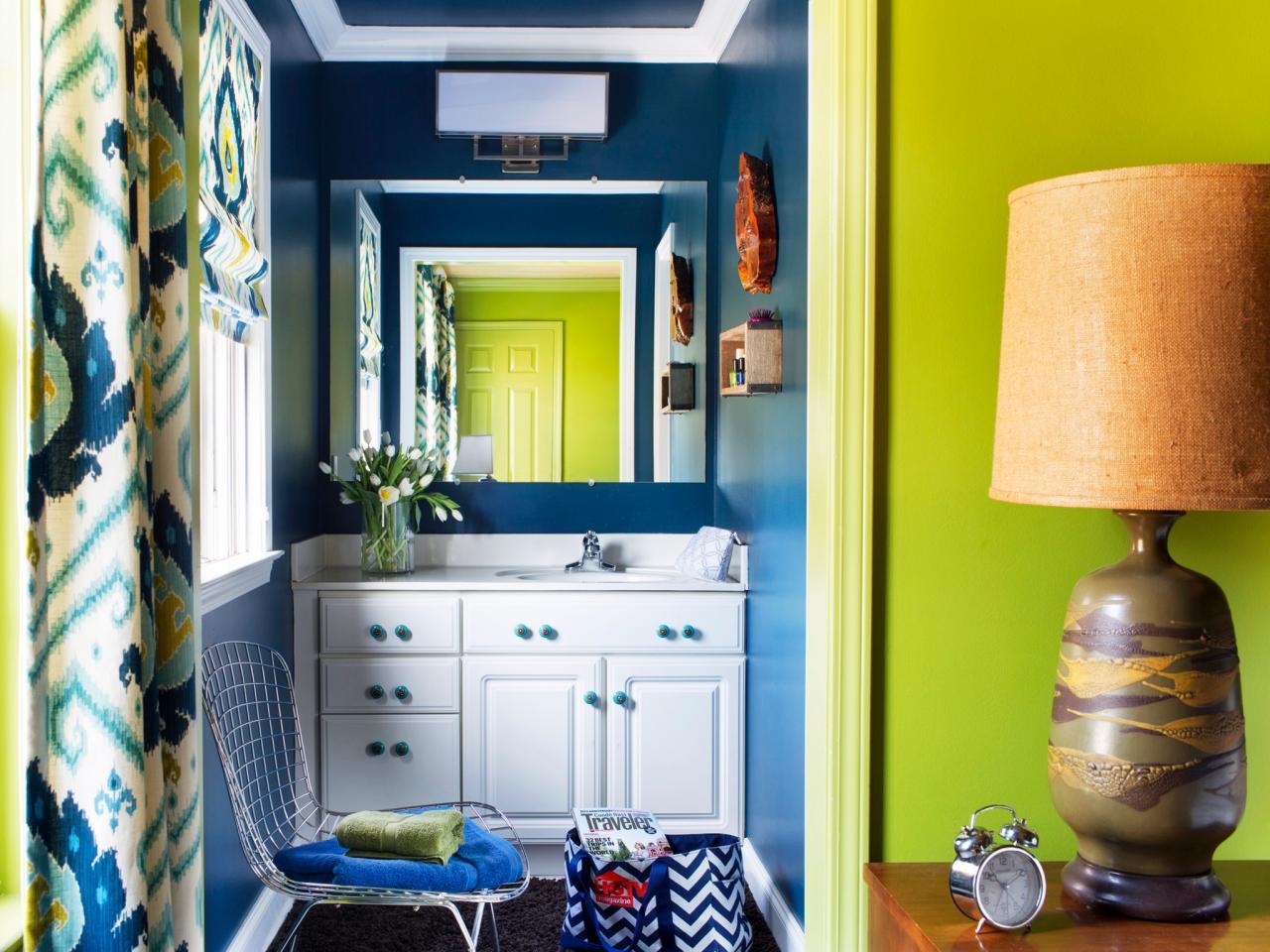 Глянцевая краска в ванной