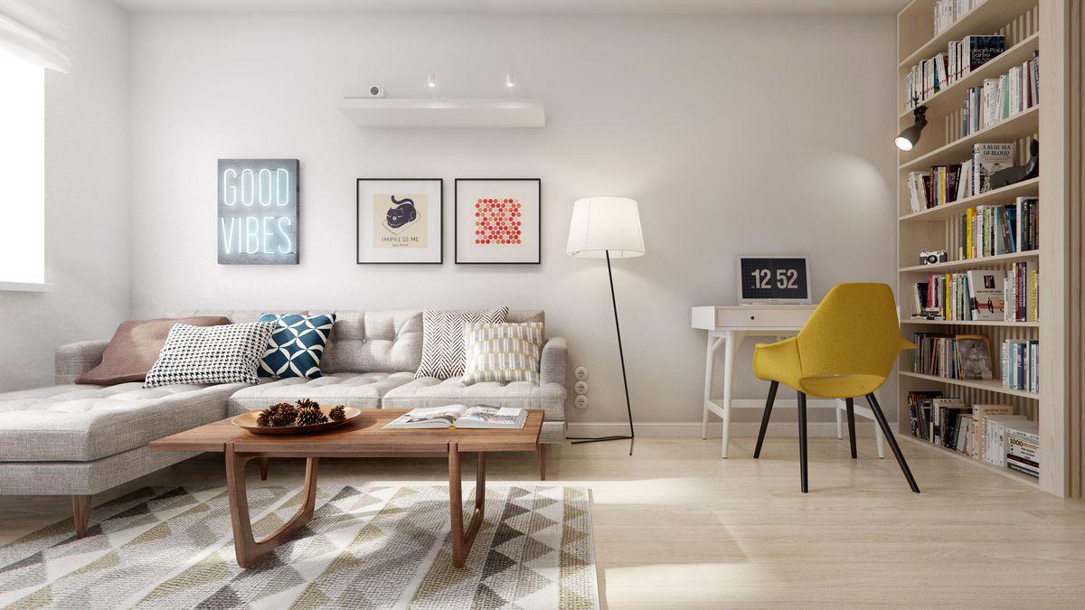 Картина по фен шуй в интерьере гостиной
