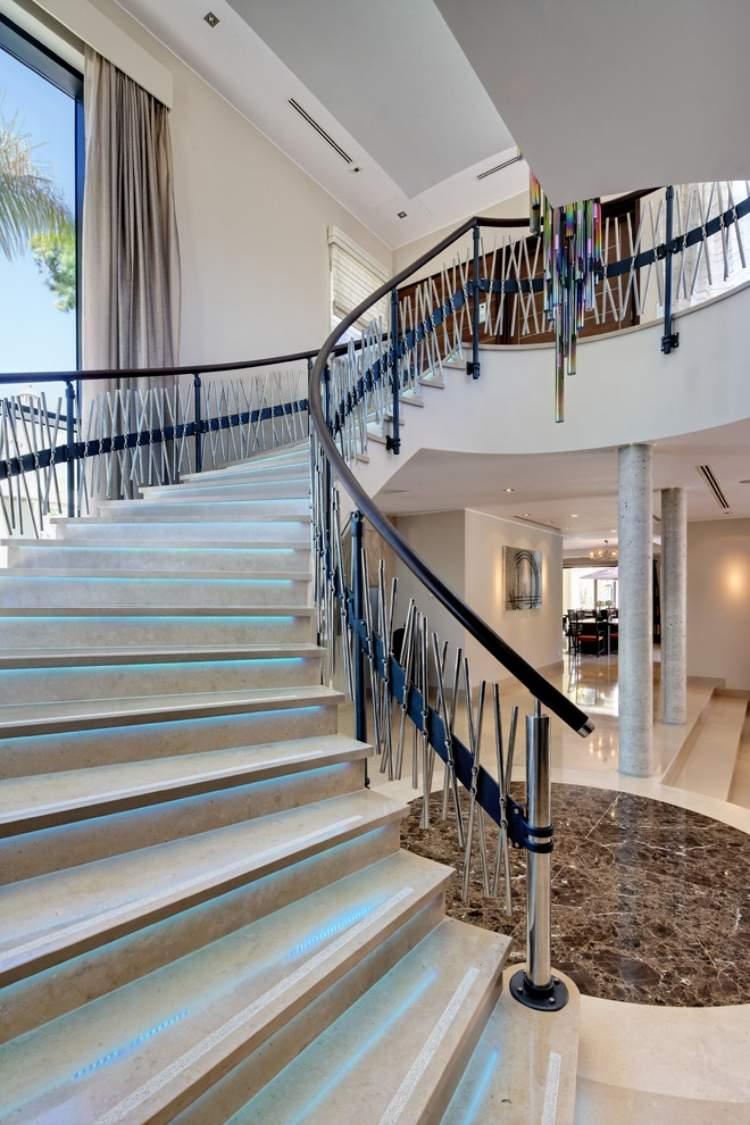 Перила для лестницы хромированные