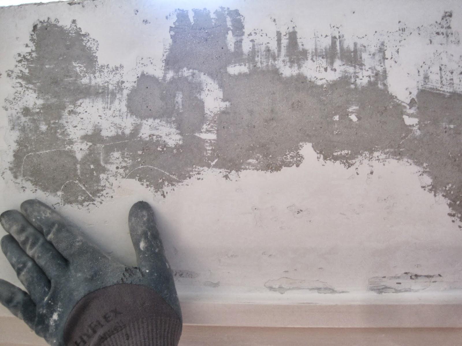 Стена, очищенная от краски