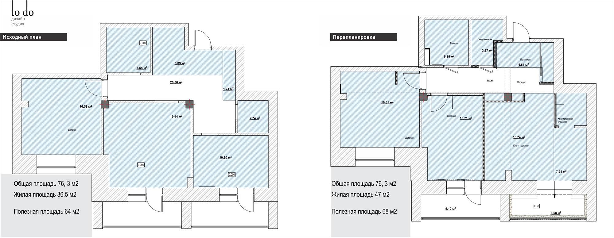 Перепланировка большой квартиры