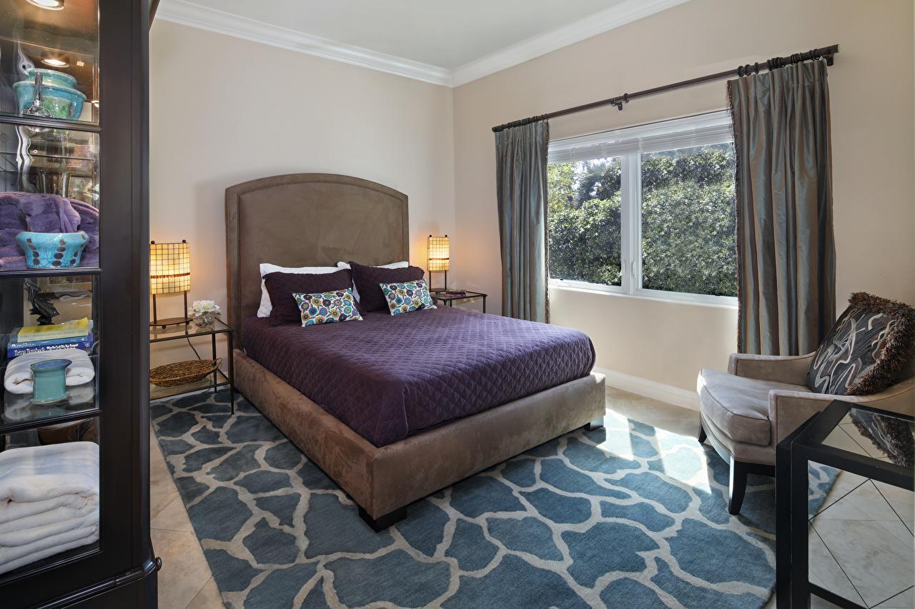 Спальня 14 кв.м. в коричневых тонах