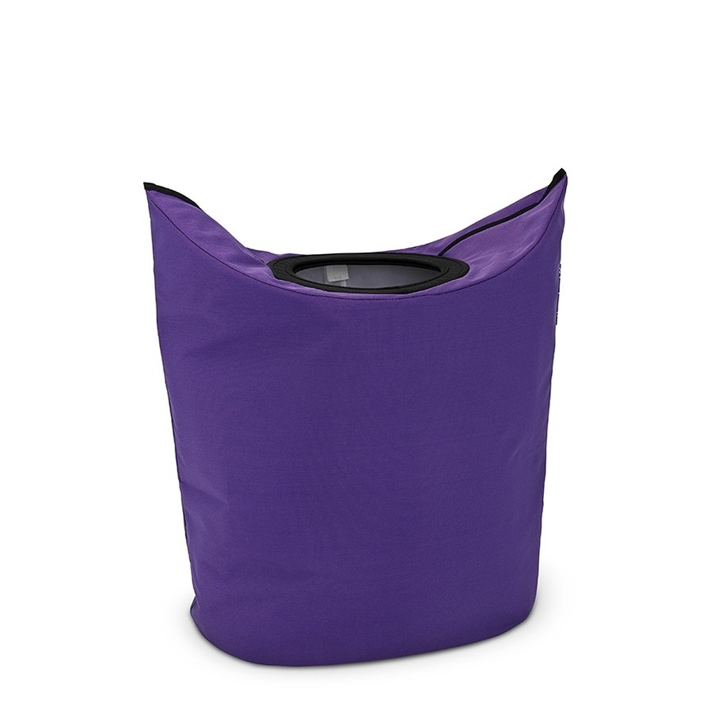 Фиолетовая корзина для белья в ванную