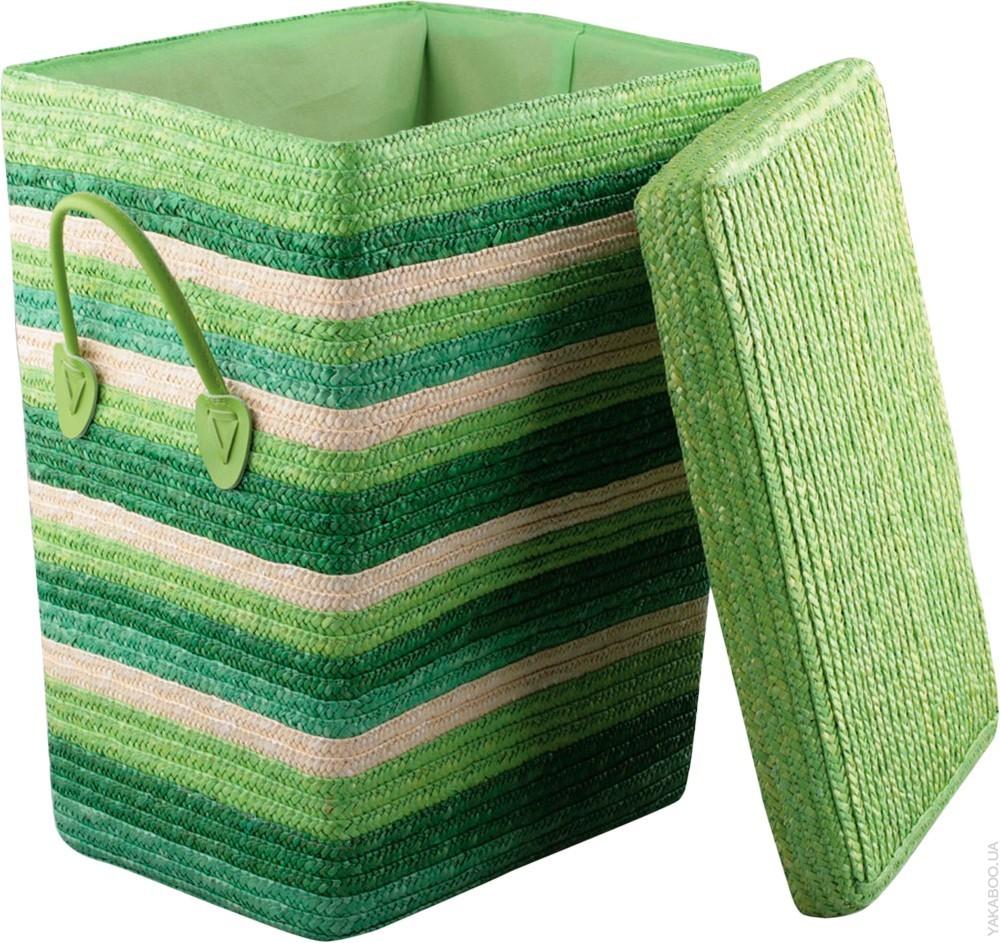 Стационарная плетеная корзина для белья в ванную