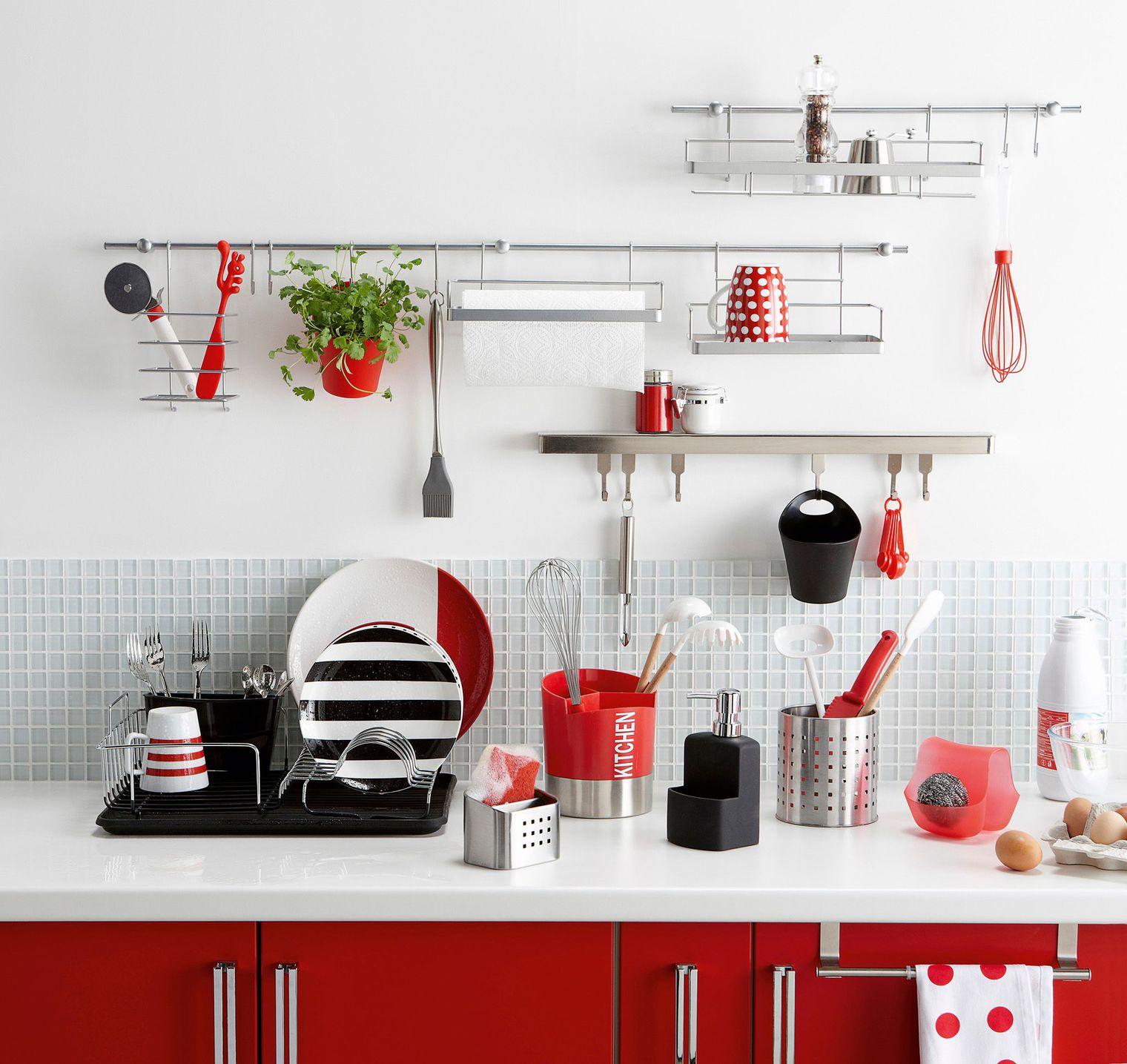 Аксессуары для кухни красные