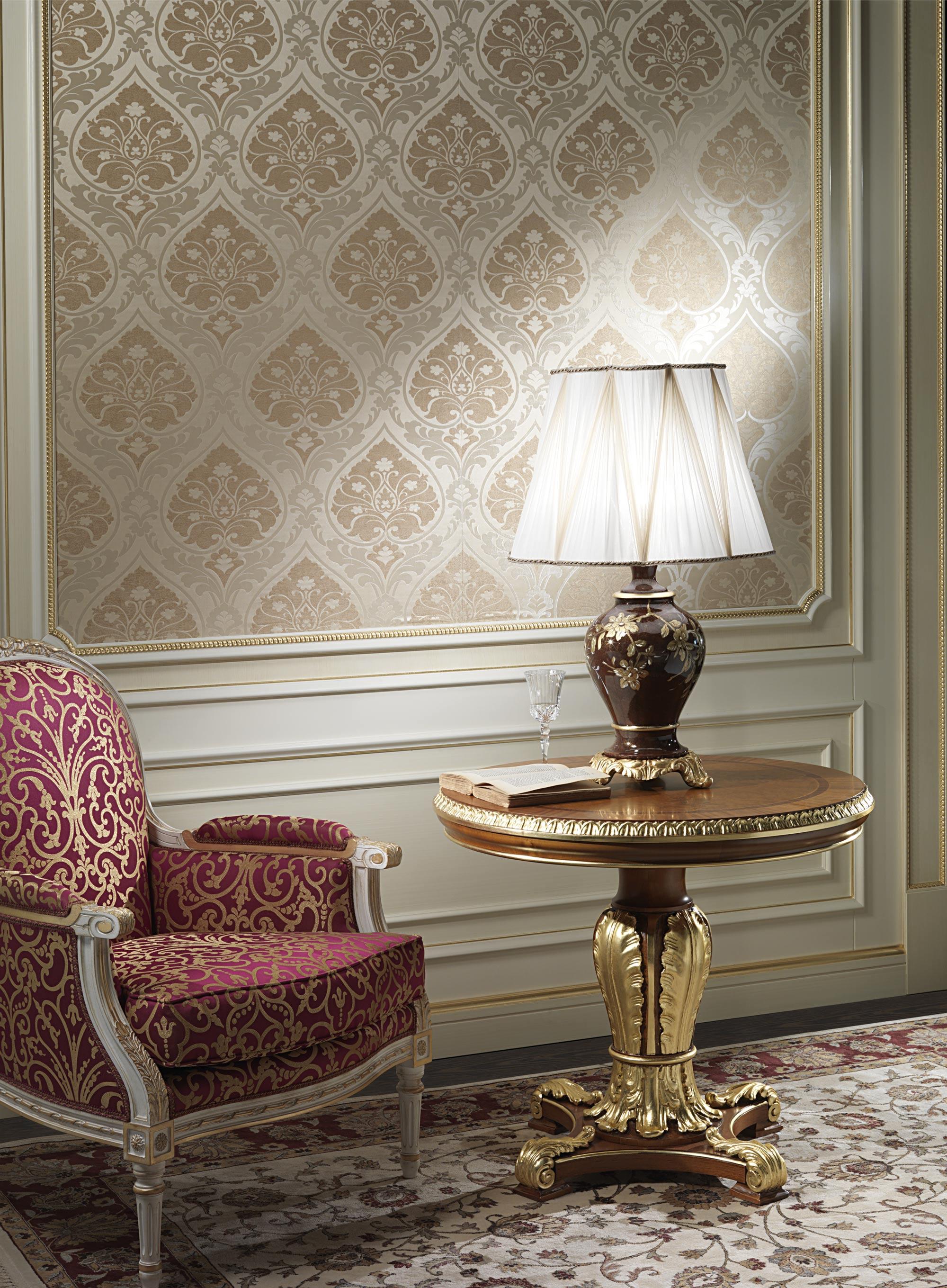 Классическая настольная лампа с белым абажуром