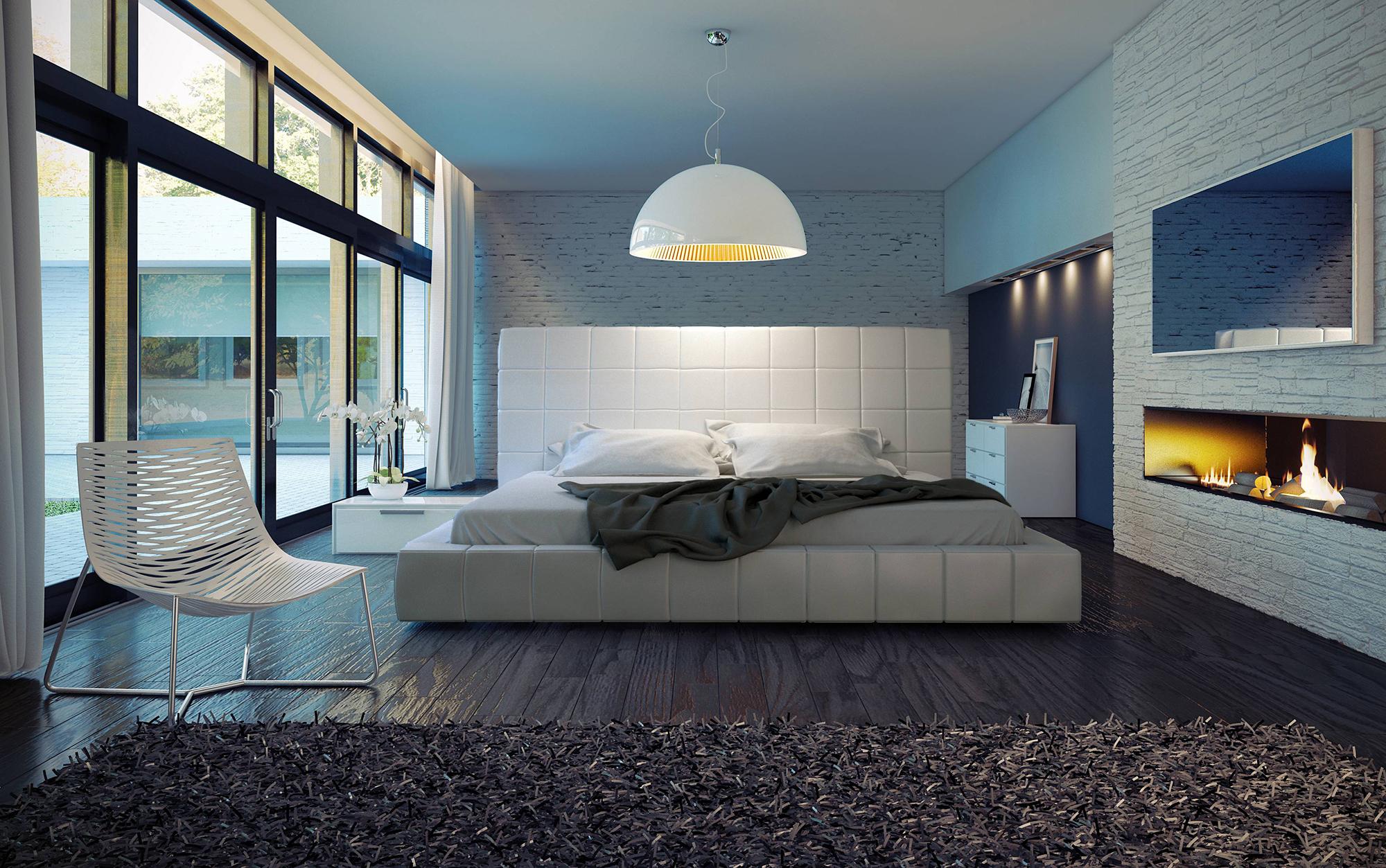 Белая люстра в спальню лофт