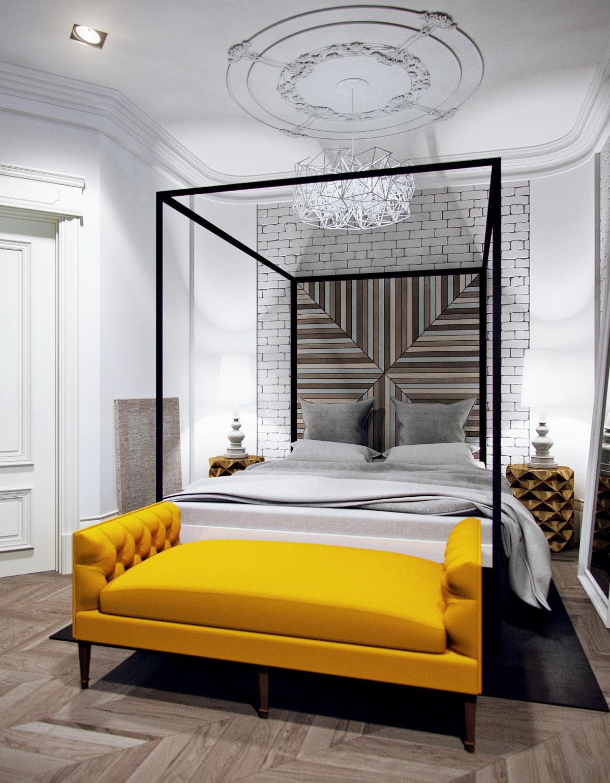 Необычная белая люстра в спальню лофт